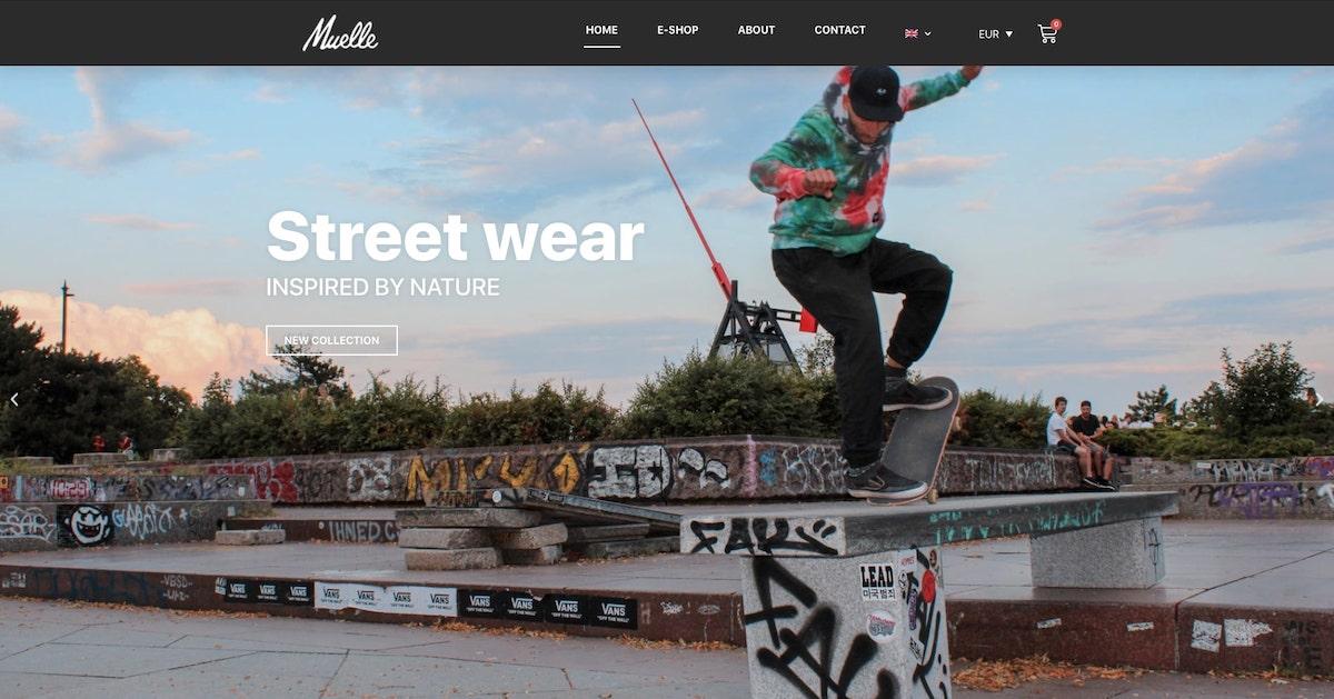 Muelle street wear website