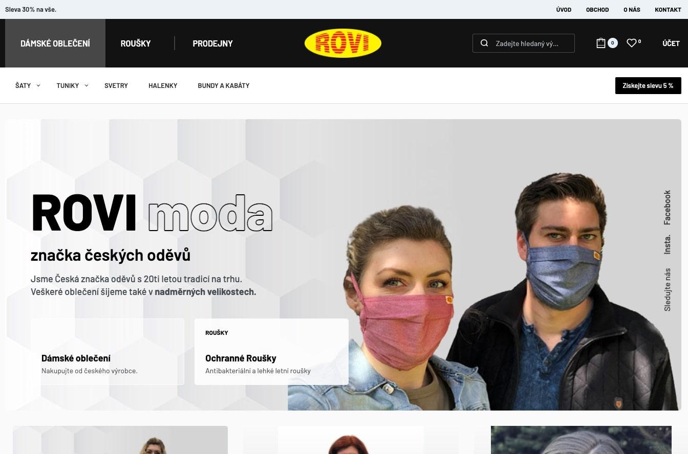 Eshop s oblečním textilem tworba webu obchod min